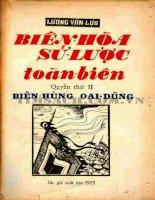 Biên hòa sử lược toàn biên quyển 2 biên hùn oai dũng   lương văn lựu, 306 trang