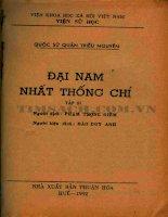 Đại nam nhất thống chí (NXB thuận hóa 1992) tập 3   phạm trọng điềm, 317 trang