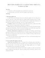 ĐỐI TƯỢNG NGHIÊN cứu và LỊCH sử PHÁT TRIỂN của VI SINH vật học