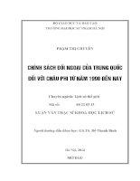 Đề tài Chính sách đối ngoại của Trung Quốc đối với Châu Phi từ năm 1990 đến nay