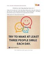 20 bài học cuộc sống giúp bạn luôn vui vẻ