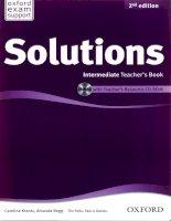 Solutions intermediate 2nd edition teachers book pdf