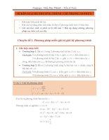 Bí kíp giải hệ phương trình chỉ trong 10 phút   đỗ duy thành