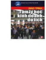 THCN giáo trình tâm lý học kinh doanh du lịch   trần thị thu hà, 112 trang