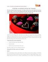 Cách làm socola hình trái tim cho Valentine