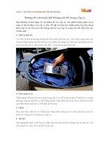 Những đồ vật tuyệt đối không nên để trong cốp xe