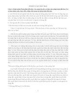 Đề cương ôn tập môn PHÁP LUẬT đất ĐAI