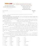 Đề thi thử THPT Quốc gia năm 2016 môn Tiếng Anh trường THPT Đoàn Thượng, Hải Dương (Lần 2)
