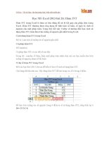 Học MS Excel 2013 bài 26: Hàm INT