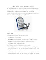 Những điều bạn chưa biết để có một CV hoàn hảo