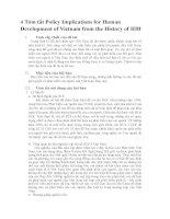 tóm tắt policy implications for human development of vietnam from the history of HDI