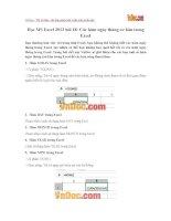 Học MS Excel 2013 bài 18: Các hàm ngày tháng cơ bản trong Excel