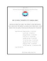 ĐÁNH GIÁ HIỆU QUẢ điều TRỊ THOÁT vị đĩa đệm BẰNG máy kéo GIÃN cột SỐNG tại KHOA PHỤC hồi CHỨC NĂNG BỆNH VIỆN đa KHOA TỈNH hải DƯƠNG,THÁNG 7 năm 2016