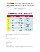 Tự học Ngữ pháp Tiếng Anh bài 2: Cấu trúc Thì hiện tại đơn