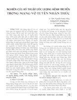 NGHIÊN CỨU KỸ THUẬT ƯỚC LƯỢNG KÊNH TRUYỀN TRONG MẠNG VÔ TUYẾN NHẬN THỨC