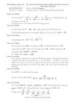 Đề thi tuyển sinh toán 10 chuyên long an năm học 2016   2017(có đáp án)