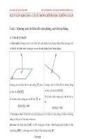 Chuyên đề  khoảng cách trong hình học không gian (có đáp án)