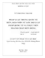 Đề tài: Pháp luật Trung Quốc về biển đảo nhìn từ góc độ Luật pháp quốc tế và thực tiễn tranh chấp Biển Đông