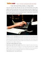 Cách viết Email Tiếng Anh hay và đúng chuẩn