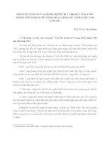 NỘI DUNG cơ bản của CHẾ độ CHÍNH TRỊ và bộ máy NHÀ nước trong Hiến Pháp 2013