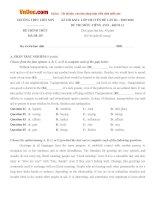 Đề thi khảo sát chất lượng lần 3 môn Tiếng Anh lớp 11 trường THPT Liễn Sơn, Vĩnh Phúc năm học 2015 - 2016
