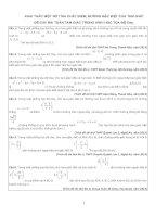 Khai thác một số tính chất điểm, đường đặc biệt của tam giác để giải bài toán tam giác trong hình học tọa độ Oxy