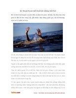 """Cách """"bơi tự cứu"""" giúp bạn sống sót dù không biết bơi"""