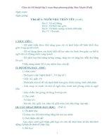 Giáo án Mĩ thuật lớp 1 soạn thep phương pháp Đan Mạch bản đẹp (Full)