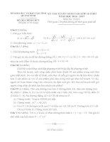 Đề thi tuyển sinh lớp 10 môn toán quang ninh năm học 2016   2017(có đáp án)