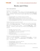 Từ vựng luyện thi nói IELTS theo chủ đề: Books and Films