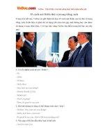 35 cách nói Hello thú vị trong tiếng Anh