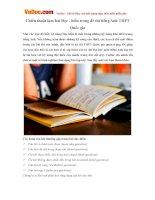 Chiến thuật làm bài Đọc - hiểu trong đề thi tiếng Anh THPT Quốc gia