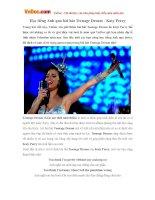 Học tiếng Anh qua bài hát Teenage Dream - Katy Perry