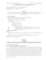 Bài tập dài môn kỹ thuật điện cao áp