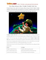 Học tiếng Anh qua video: Twinkle Twinkle Little Star