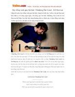 Học tiếng Anh qua bài hát: Thinking Out Loud - Ed Sheeran