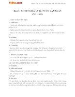 Giáo án Lịch sử 6 bài Khởi nghĩa Lý Bí. Nước Vạn Xuân (542 - 602)