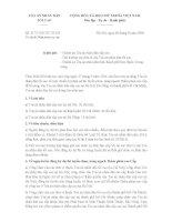 Công văn 317/TANDTC-TCCB năm 2016 về dự thi Thẩm phán cao cấp