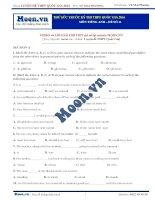 Đề thi thử THPT QG môn tiếng Anh 2016 - Đề số 11