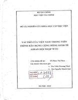 vai trò của việt nam trong tiến trình xây dựng cộng đồng kinh tế asean hội nhập WTO
