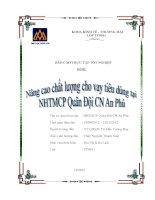 Nâng cao chất lượng cho vay tại ngân hàng TMCP quân đội chi nhánh an phú