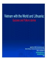Vietnam with the World and Lithuania: Success and Failure stories