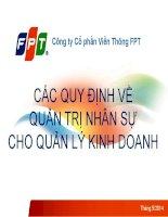 Tai lieu dao tao ve Nhan su cho Quan ly Kinh doanh