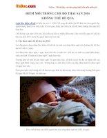 Điểm mới trong chế độ thai sản 2016 không thể bỏ qua