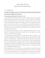 ĐỀ CƯƠNG ÔN TẬP HỌC PHẦN ĐÁNH GIÁ ĐẤT