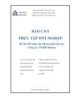 Kế toán các khoản phải thu tại công ty TNHH nielsen