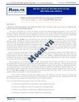 Đề thi thử THPT QG môn tiếng Anh 2016 - Đề số 12