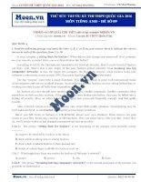 Đề thi thử THPT QG môn tiếng Anh 2016 - Đề số 9