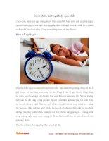 Cách chữa mất ngủ về đêm hiệu quả nhất
