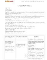 Giáo án Hóa học 11 bài 33: Luyện tập Ankin